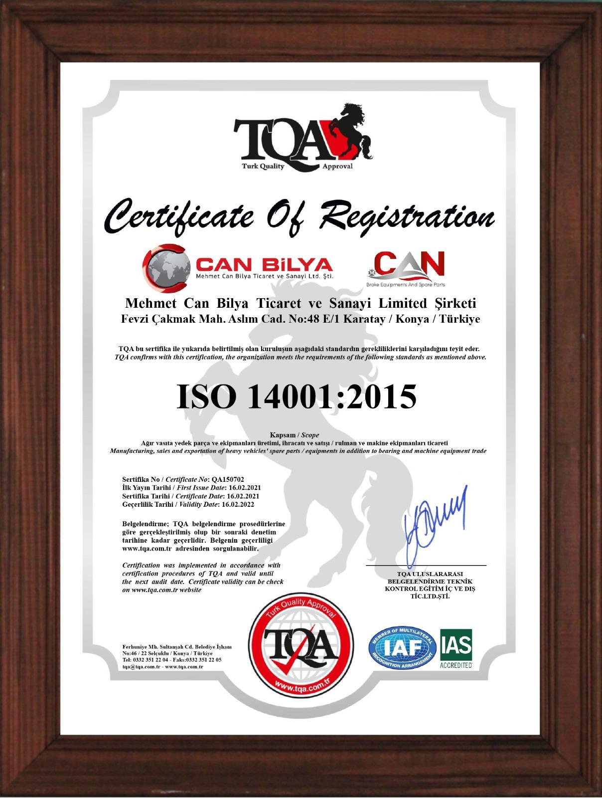 TQA ISO 14001-2015