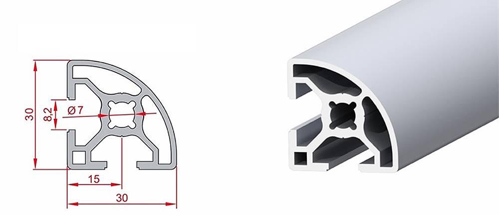 30x30 Radiuslu Sigma Profil