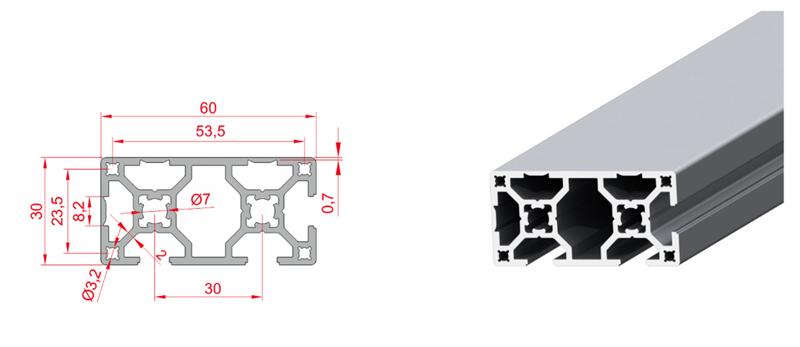 30x60 Kapalı Sigma Profil