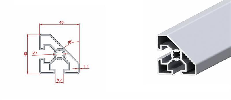 40x40 45° Dereceli Profil