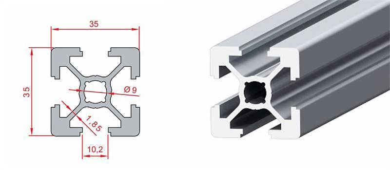 35x35 Ağır Sigma Profil